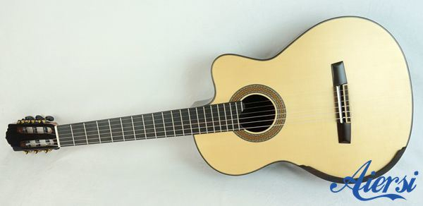 Electric Lattice Sound Bracing Smallman Classical Guitar