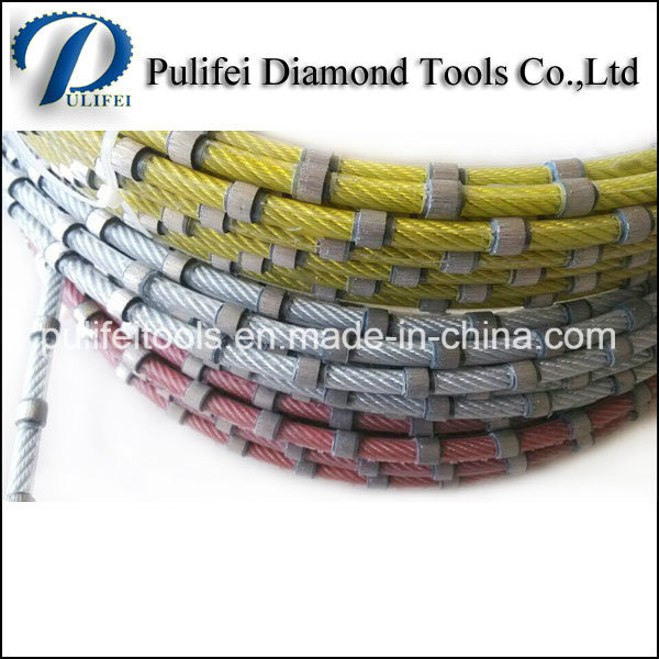 Granite Marble Concrete Cutting Sintered Beads Diamond Wire Saw