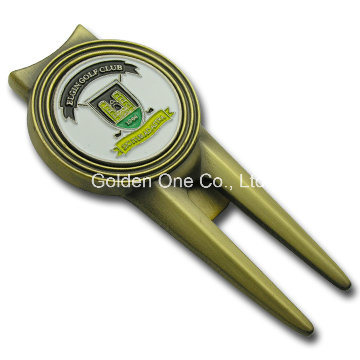 Custom Metal Magnetic Golf Repair Divot Tool with Ball Marker