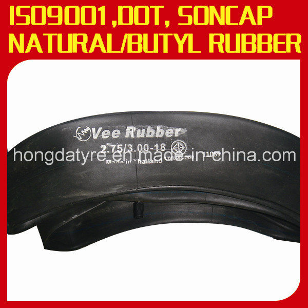 Natural Rubber/Butyl Rubber Motorcycle Inner Tube 3.00-18