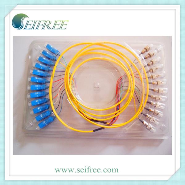 12 Cores Sc-FC Fiber Optical Patch Cord Cable