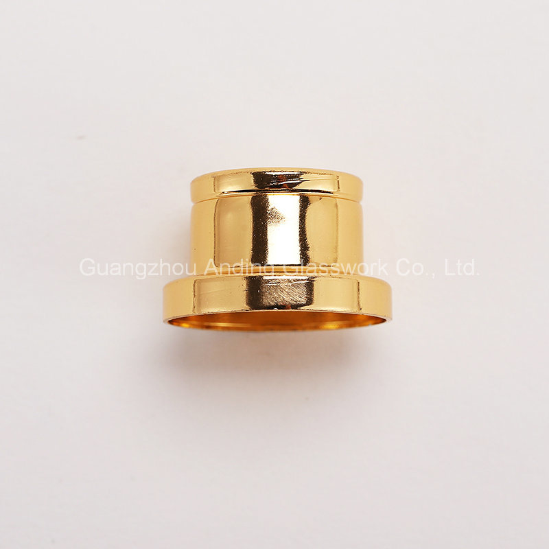 Anodized Aluminum Set Glass Perfume Bottle Collar