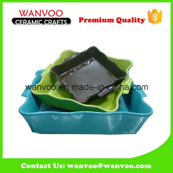 3 PCS Oven Dishwasher Safe Ceramic Mini Baking Dishes for Sale