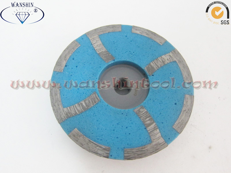 China Diamond Cup Wheel Resin Filled for Granite Concrete