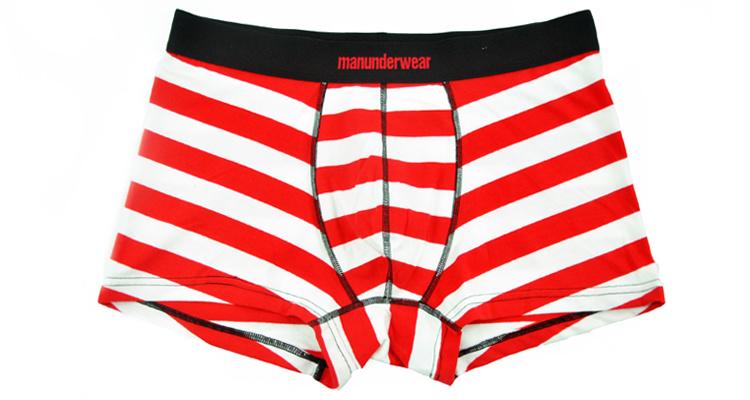 100% Cotton Underwear Boxer Brief Men 259-Red