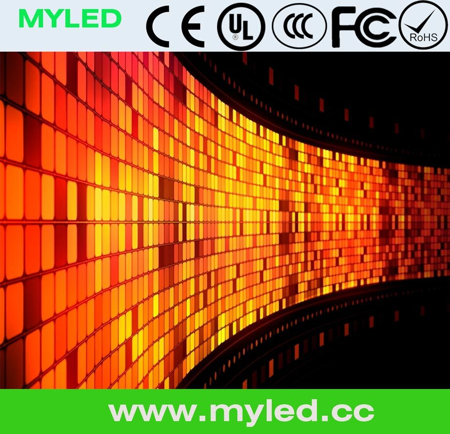 P7.62mm LED Scrolling Curtain Bluetooth Display Flexible Moving Circuit Mesh LED Display