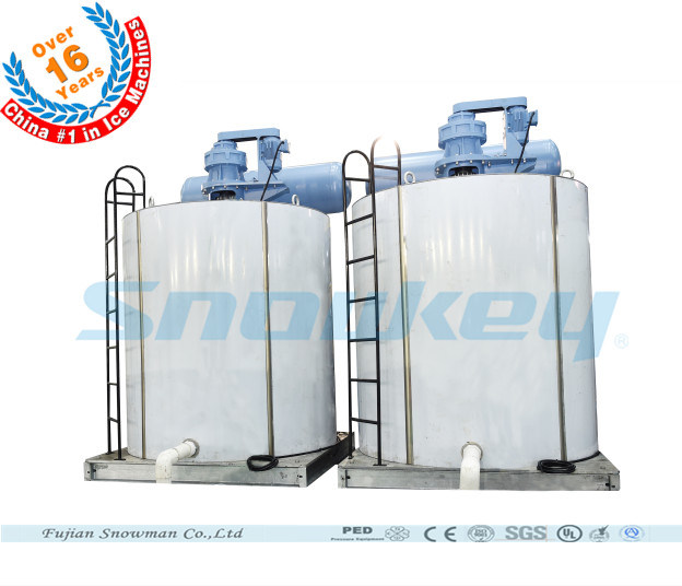 Unique Large Capacity Industrial Flake Ice Machine 60tons Per Day Ammonia System Flake Ice Plant