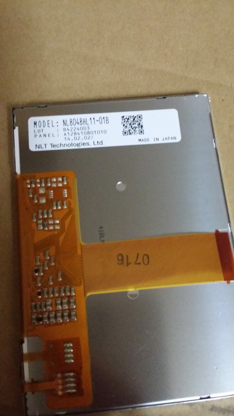 """Nl8048hl11-01b Nlt 4.1"""" WVGA 800X480 TFT LCD Panel with Touch Screen"""