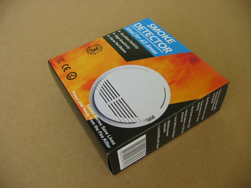 DC 12V Wired Smoke Detector for Fire Security