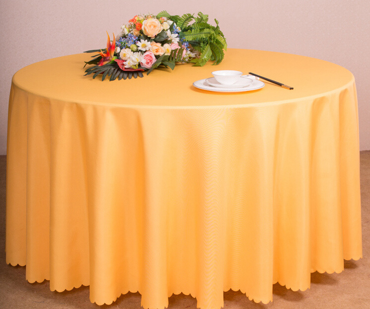 Restaurant or Hotel Used Table Linen Polyester Table Cloth