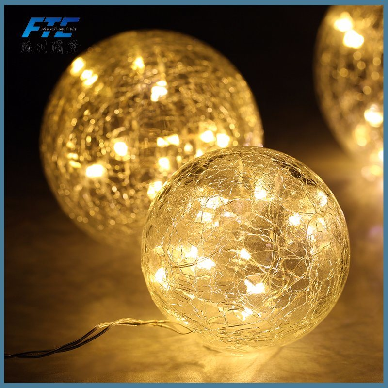 2017 Tree Decoration Glass Christmas Ball with LED Light