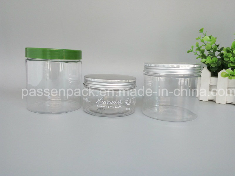 Pet Plastic Food Packaging Container with Silver Metal Lid