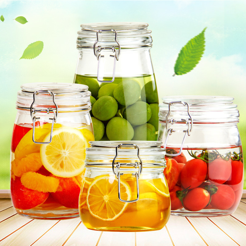 Free Sample Provided Clear Glass Container/Food Storage Jar with Lid for Kitchenware