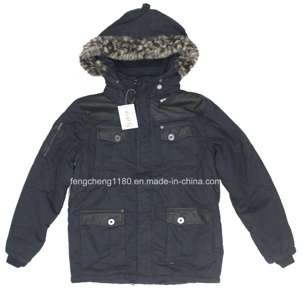 Men Nylong Winter Padding Jacket/ Coat with Fur Hoody