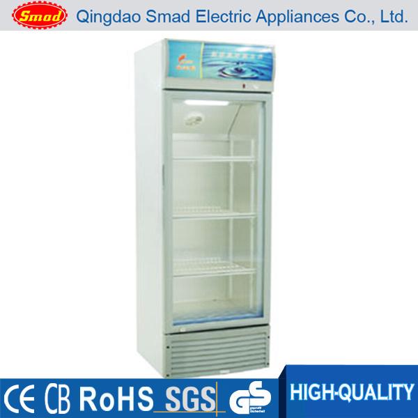 Single Glass Door Upright Cooler Display Refriegrator Showcase