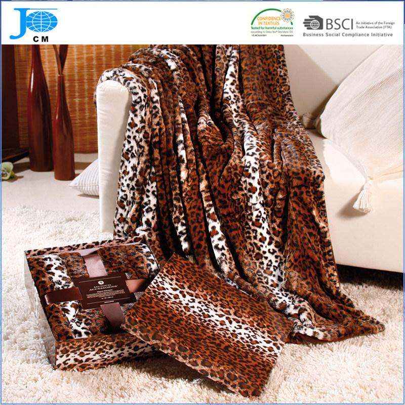 100% Polyester Printed Flannel Fleece Blanket