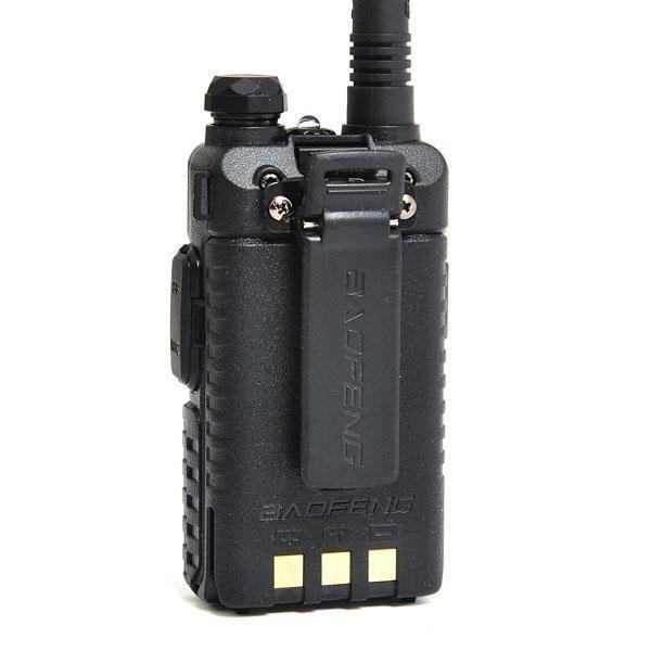 Baofeng Walkie Talkie Baofeng UV-5r VHF/UHF Dual Band 5W Handheld Ham Two Way Radio-Black