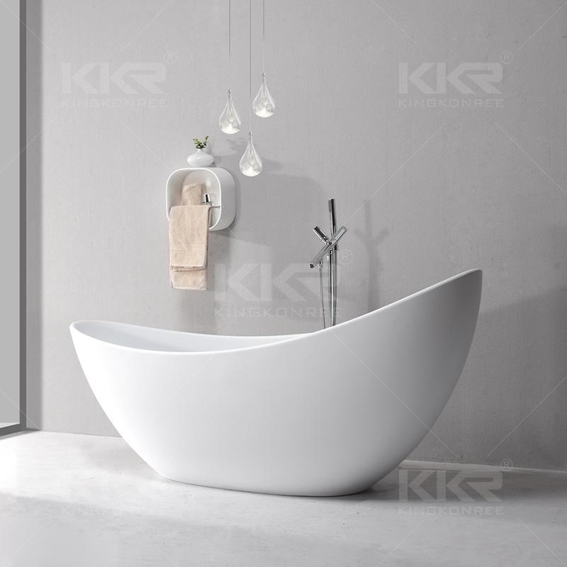 Italian Design Popular Solid Surface Freestanding Fancy Bathtub