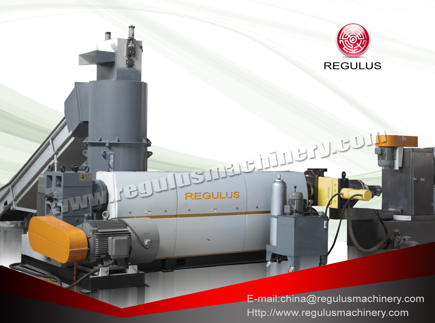 PE Film Compactor Granulating Recycling Machine