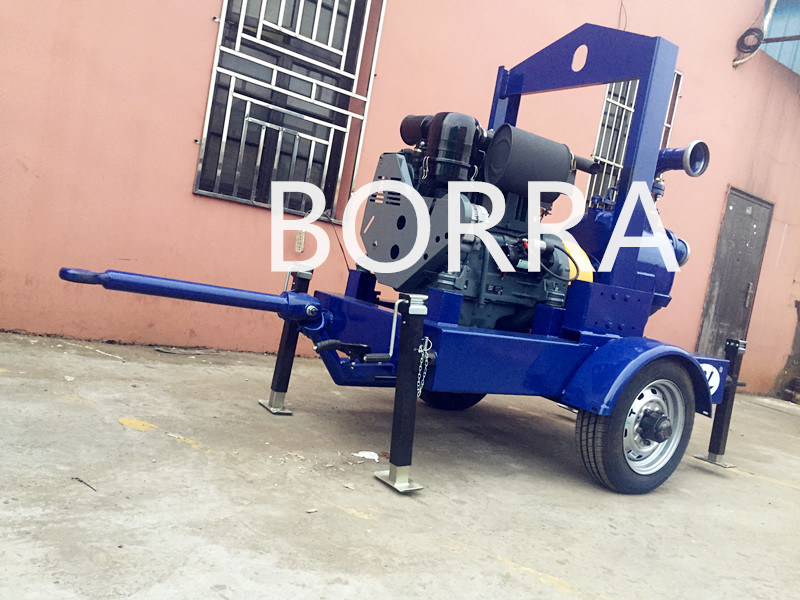 Trailer Mounted Air Cooling Self-Priming Diesel Engine Dewatering Water Pump