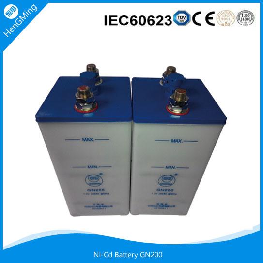 Nickel Cadmium Battery Ni-CD Battery Alkaline Battery 1.2V 200ah for Sale