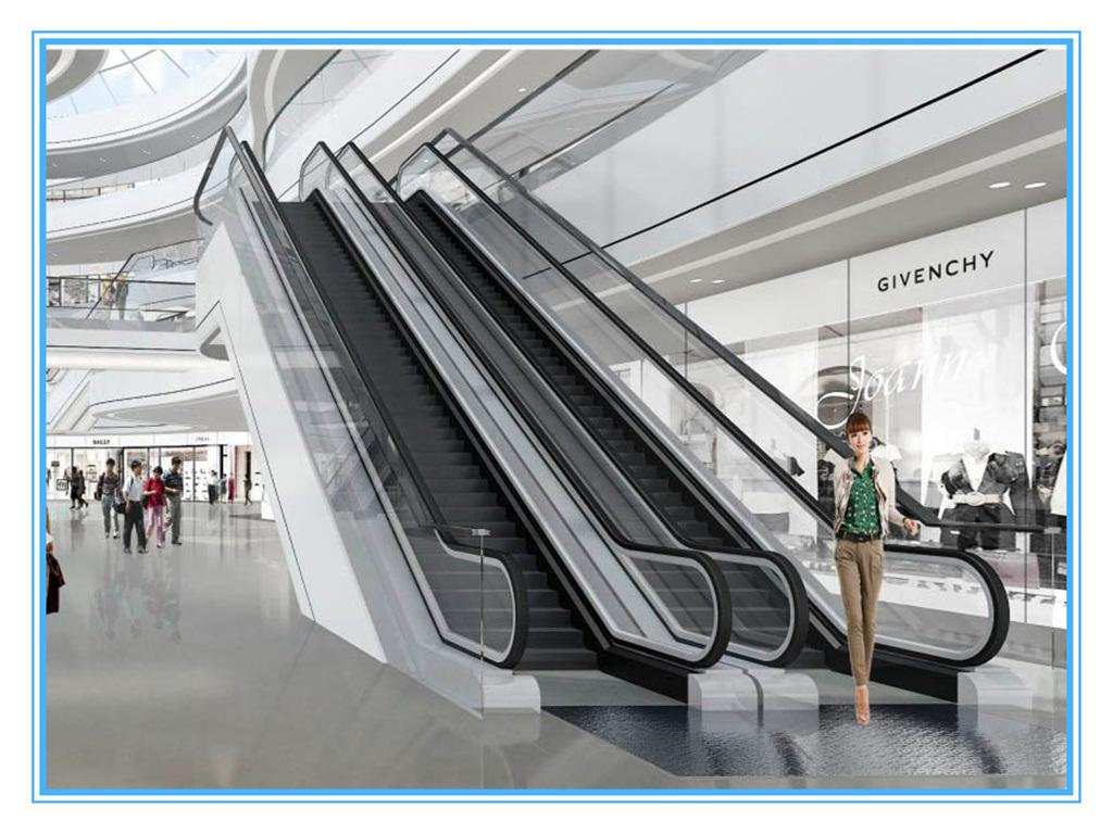 Outdoor Safe & Comfortable Commercial Escalators