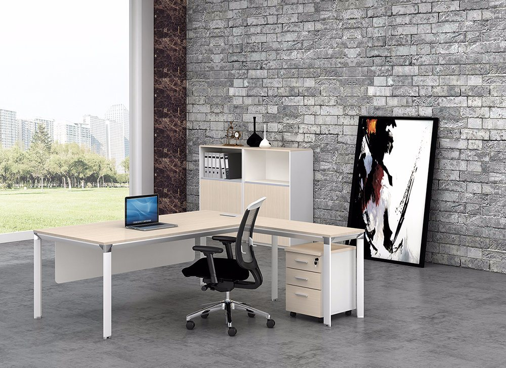 White Customized Metal Steel Office Executive Desk Frame with Ht08-2