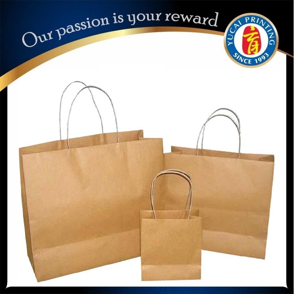 Custom Brown Kraft Paper Bag Paper Shopping Bag