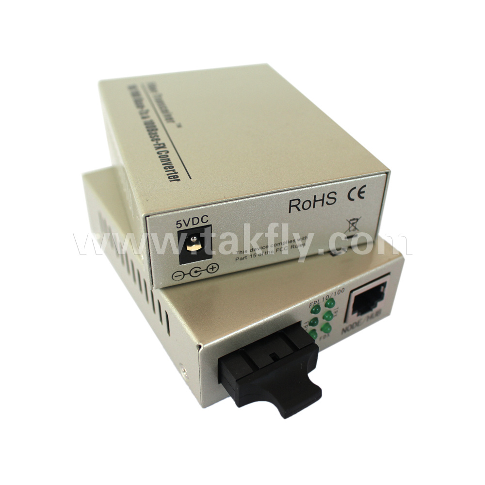 10/100base-Tx to 100base-Fx Singlemode Duplex Sc Unmanaged Fiber Media Converter