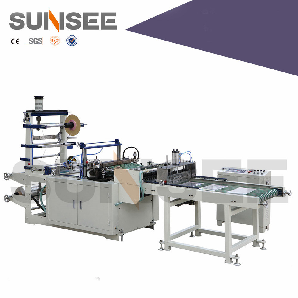 Hot Seal Bag Making Machine with Tape and Hole Punch
