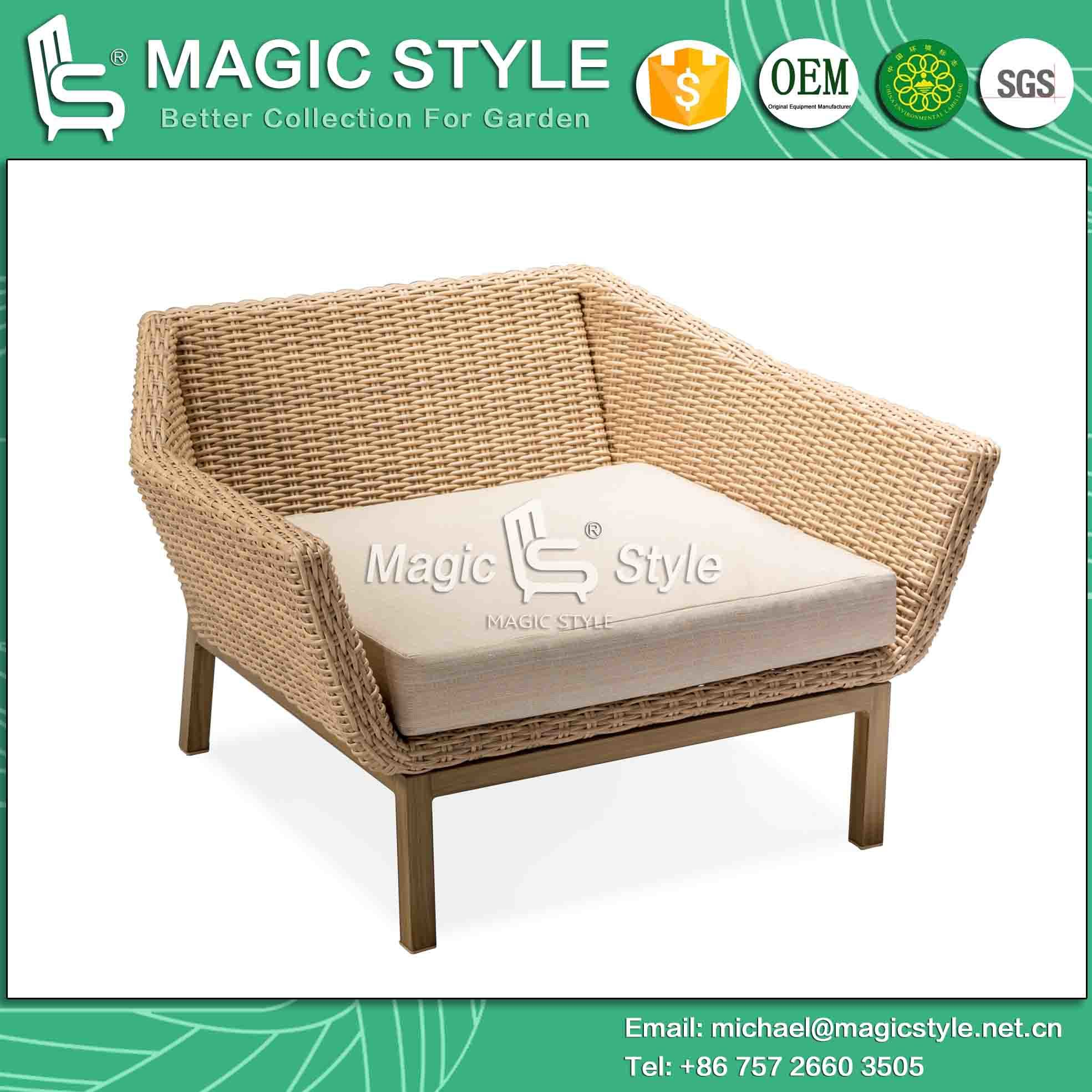 Garden Sofa with Cushion Outdoor Sofa with Printing Legs Rattan Corner Sofa Set Garden Sofa Set Patio Furniture Wicker Furniture