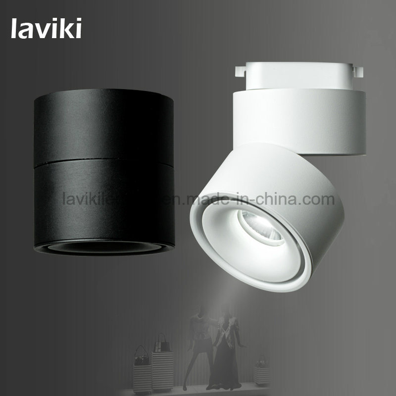 7W/10W/12W Angle Adjustable COB LED Track Lighting Track Spot Light with Black White for Shops, Showroom