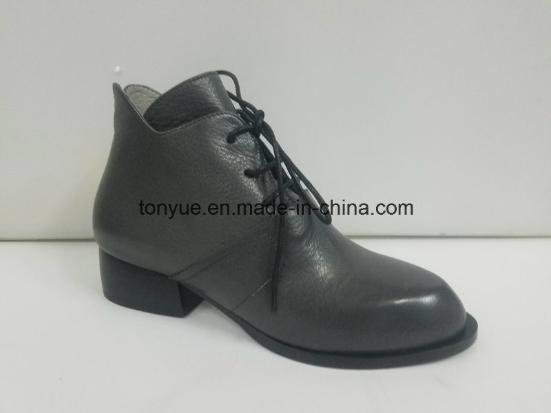 Lady Leather Tie Lace Pointed Restoring Ancient Ways Ankle Boots