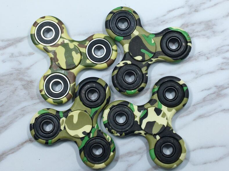2017 Hot Sale Hand Fidget Spinner with Camouflage Color