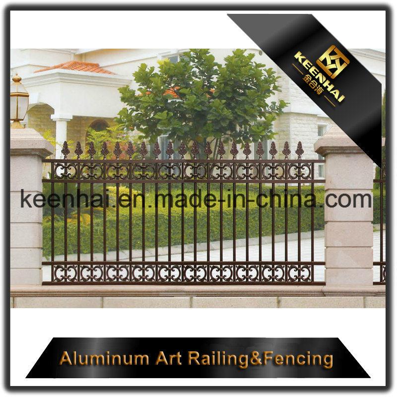 Exterior Decorative Powder Coated Cast Metal Aluminum Garden Fence