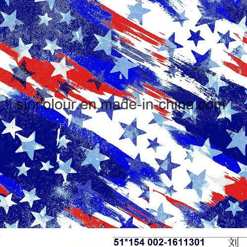 80%Nylon 20%Spandex Star Aop Fabric for Swimwear