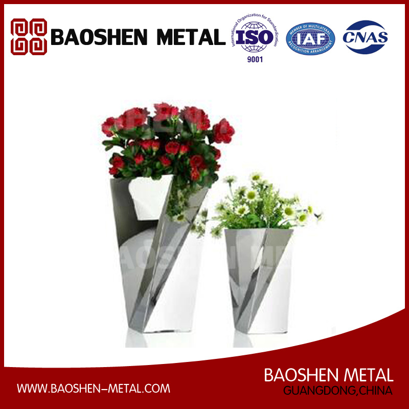 Small Rectangle Metal Stainless Steel Table Flower Vases Decoration Exquisite Made