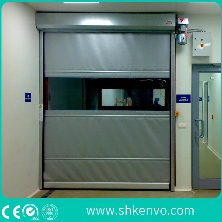 Pharmaceutical Drug PVC Fabric High Speed Fast Rapid Roller Shutter Door