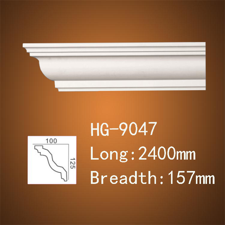 PU (polyurethane) Foam Material Ceiling Cornice / Crown Moulding