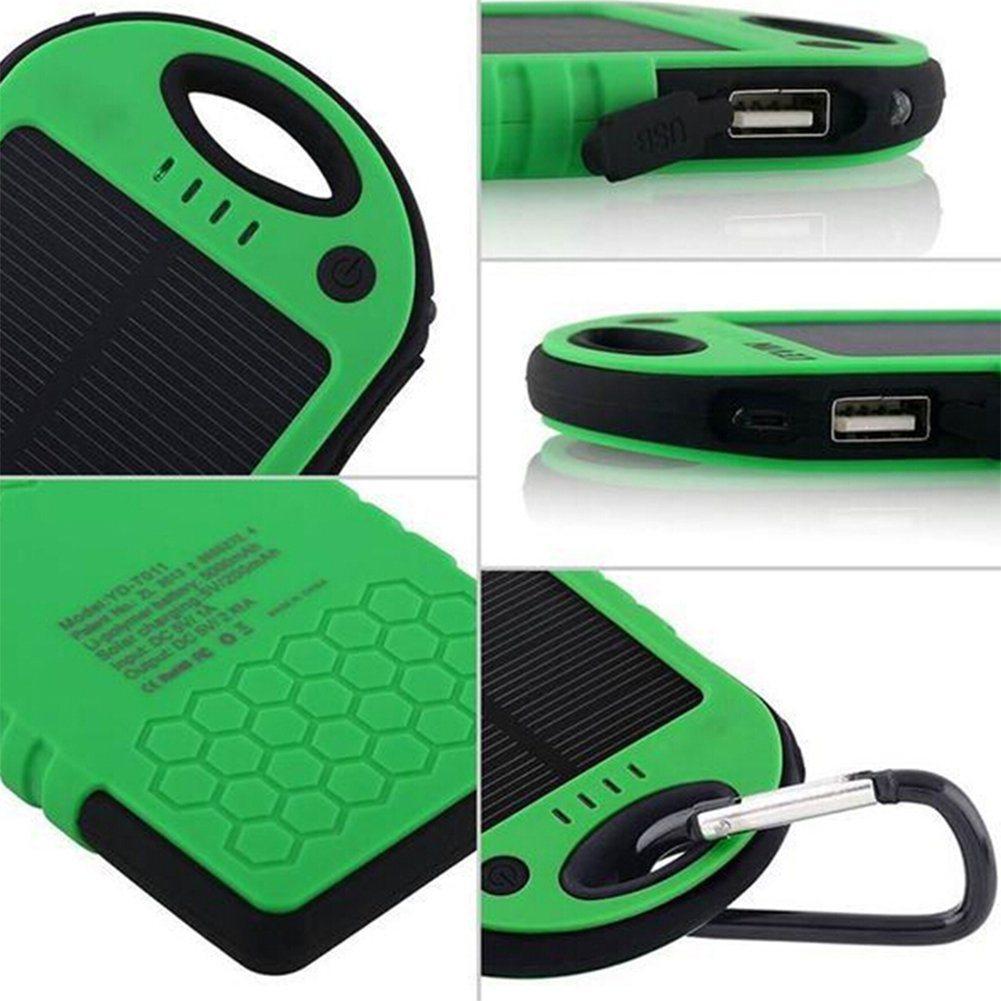 Solar Charger 12000mAh Dual USB Port Portable Backup Power