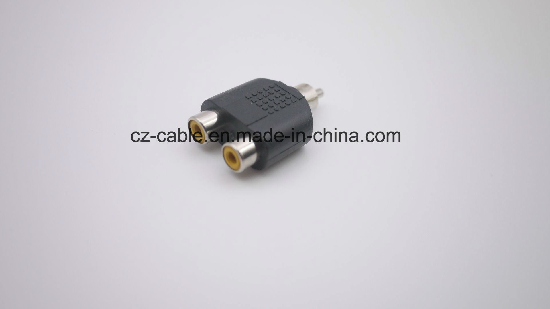 RCA Connector, RCA Plug to 2RCA Jacks (male to female)