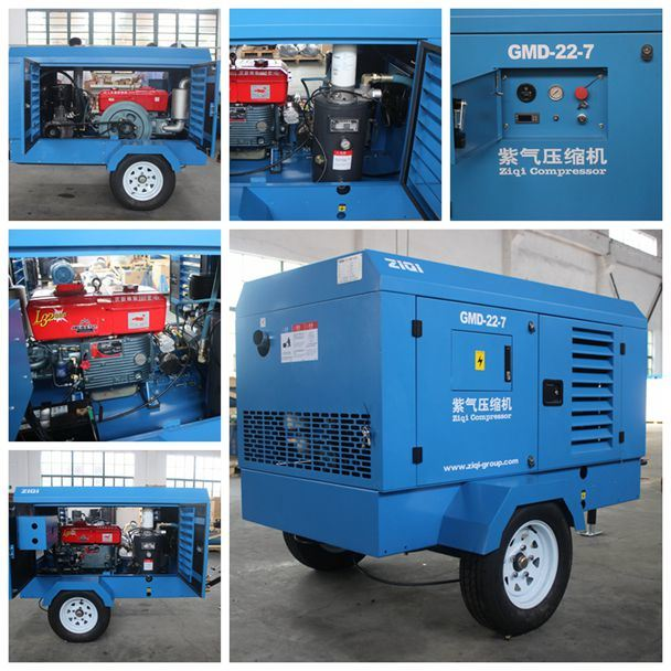 Portable Diesel Engine Screw Air Compressor for Mining