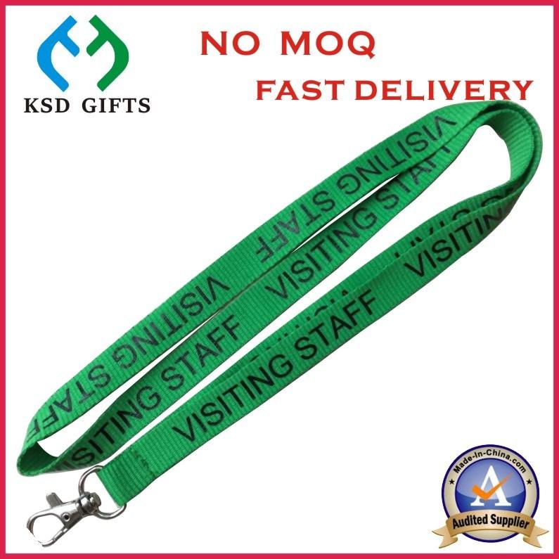 Customized Silk Printed Logo Hot Sell Cheap Neck Lanyard Badge