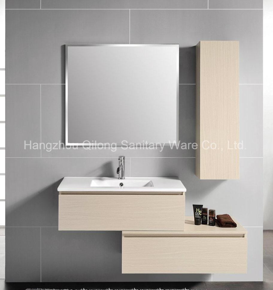 Composite Melamine Bathroom Furniture with Side Vanity in Bathroom