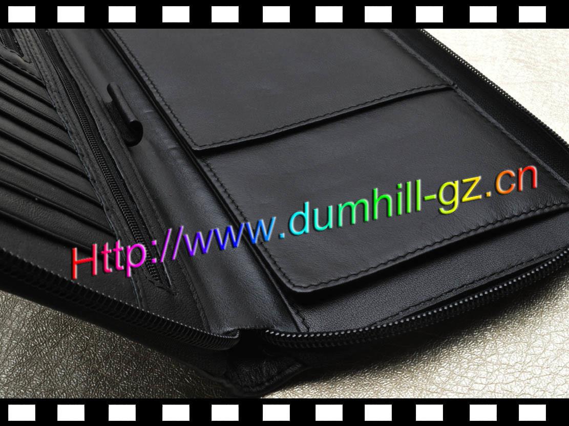 Zipper Leather Passport Travel Wallet
