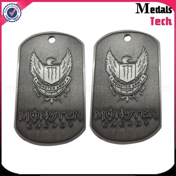Shiny Silver Custom High Polished Metal Dog Tag Bottle Opener Necklace