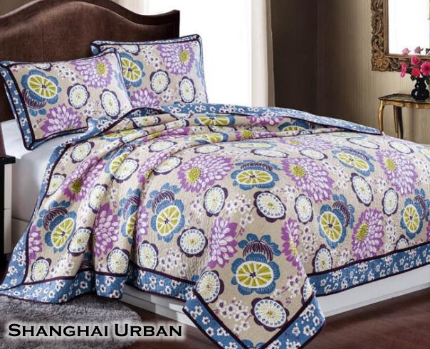 Modern Design Soft Hand Feel Cotton Bedspread Quilt