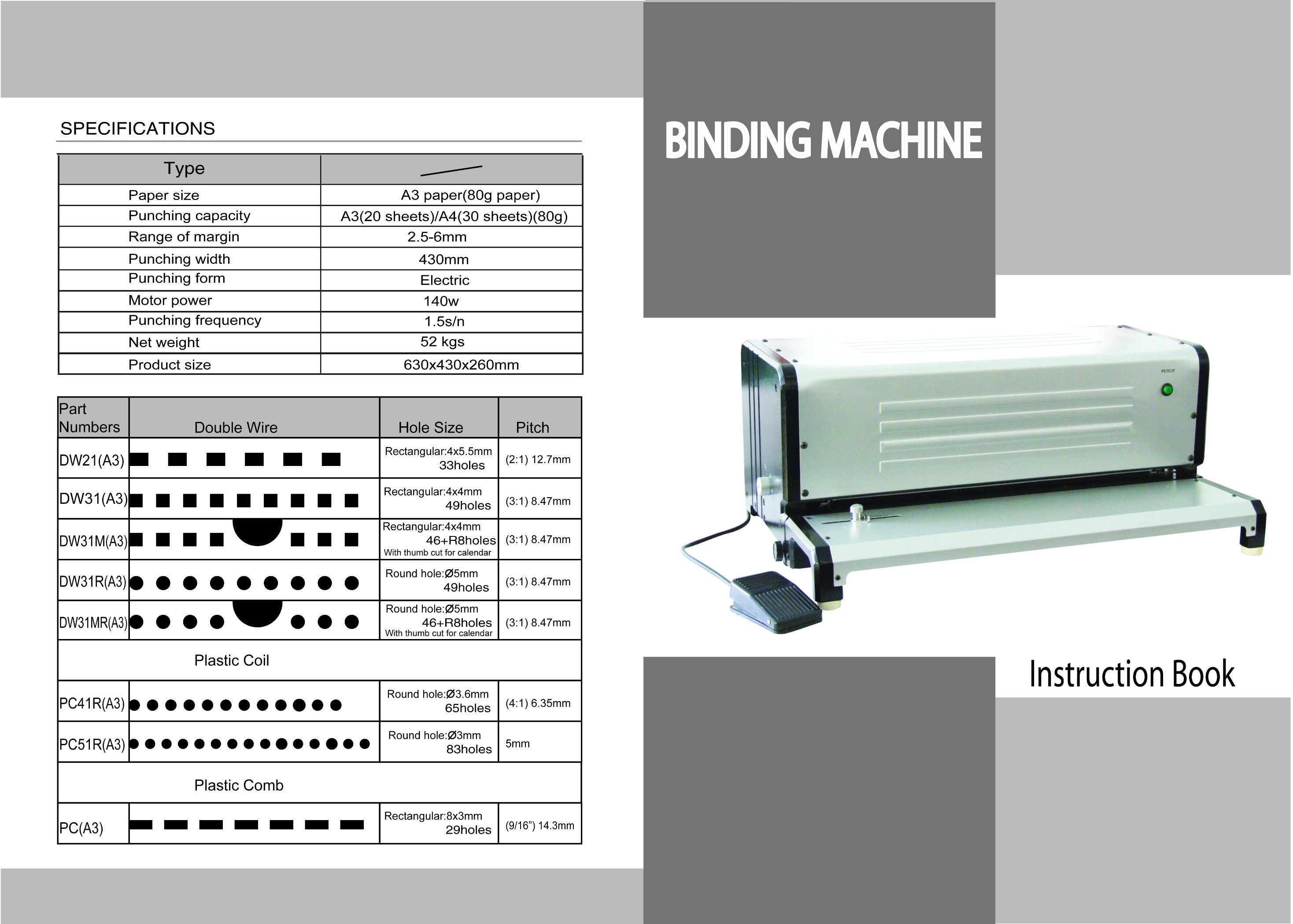 Multi-Function Binding Machine of A3 Punching