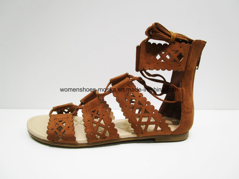 New Fashion Women Flat Heel Sandal Shoes Footwear
