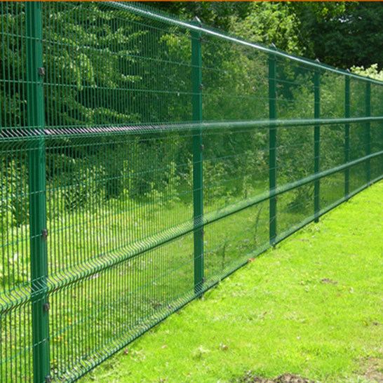Powder Coated Galvanized Triangle Bending Fence Panel Welded Wire Mesh Fence